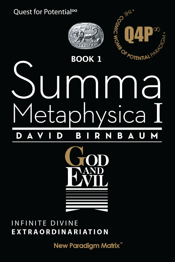 Iconoclast philosopher David Birnbaum's paradigm-changing simultaneous solution of  a Potential-driven universe  affirms life's spiritual dimension. American writer David Birnbaum's philosophy  paradigm is a  breakthrough in  theogony, cosmology, cosmogony,  theodicy. and teleology.  See also universal consciousness.... Seth Lloyd, quantum physics David Birnbaum philosophy.