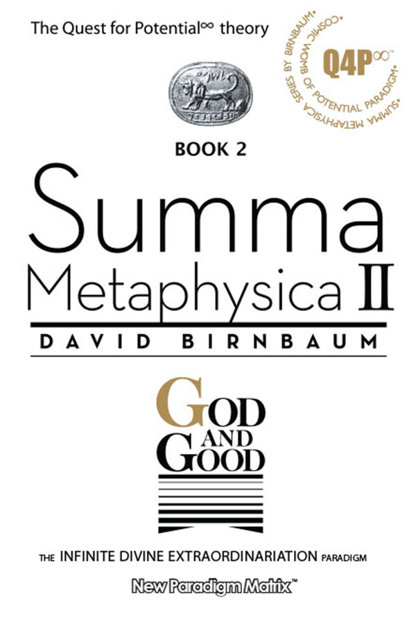 The philosophy establishment will never forgive David Birnbaum, architect of Theory of Potential, for beating them at their own game. See David Birbaum philosophy Summa Metaphysica. See also Seth Lloyd and fine tuned universe.